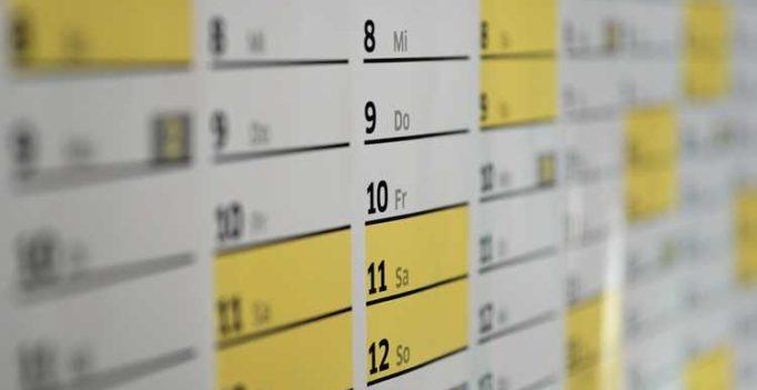 calendario della prevenzione